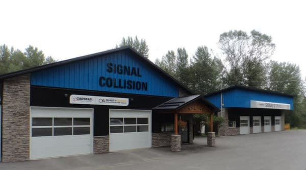 View of Signal Collision Auto Body Repair Shop in Cranbrook BC