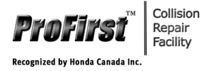 Logo - ProFirst Collision Repair Facility - Recognized by Honda Canada Inc.
