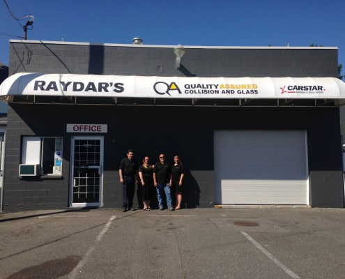 View of Raydar's Auto Body Repair Shop in Mission BC