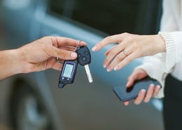 Handing back the car keys following a collision repair