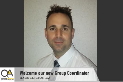 Head shot of the new Group Coordinator for QA Collision