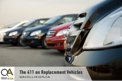The 411 on Replacement Vehicles - row of parked cars.