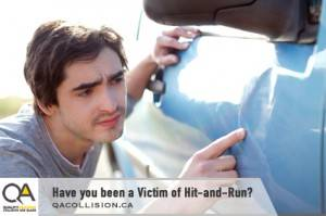 Have you been the Victim of a Hit-and-Run? - Man inspecting a car door dent