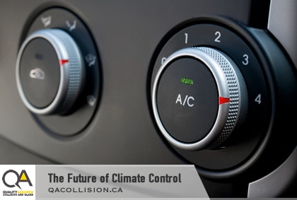 The Future of Climate Control - showing two car dash knobs