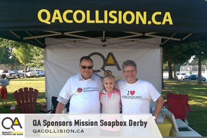 Tent photo for Raydar Auto Body Shop Sponsoring Mission Soapbox Derby