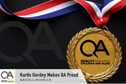 Medal - Kurtis Gordey Makes Quality Assured Proud