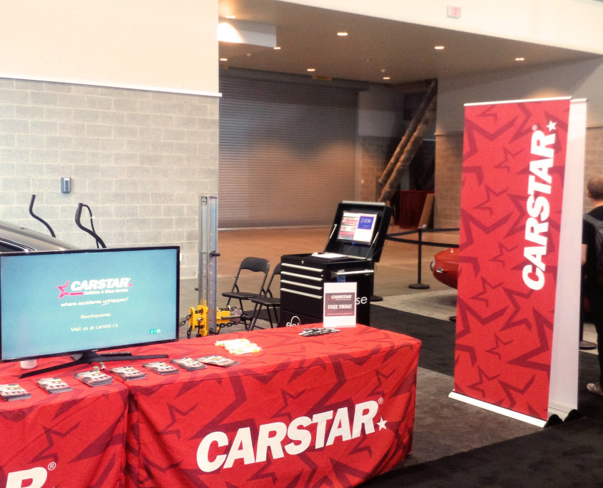 CARSTAR Auto Show Booth Banner and Reception Table