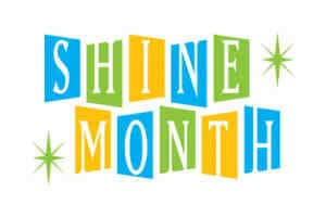 "Stylized ""Shine Month"" banner"