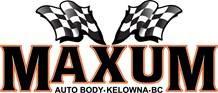 Maxum Auto Body Shop Logo - Kelowna BC