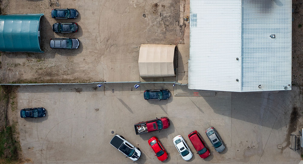 Aerial view of Armstrong Collision in Armstrong BC